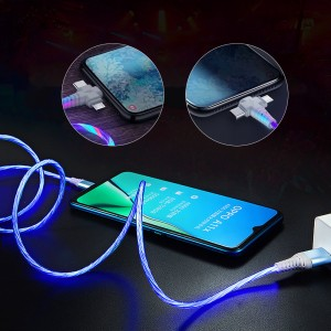 3 in1 Luminous Lighting USB Cable